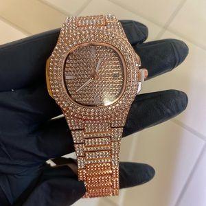 Men's rose gold watch